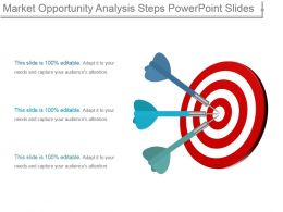Market Opportunity Analysis Steps Powerpoint Slides