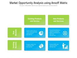 Market Opportunity Analysis Using Ansoff Matrix