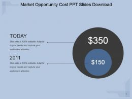 Market Opportunity Cost Ppt Slides Download