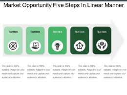 Market Opportunity Five Steps In Linear Manner