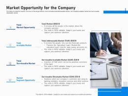 Market Opportunity For The Company Investment Fundraising Post IPO Market Ppt Portfolio Layout