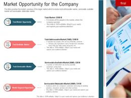 Market Opportunity For The Company Secondary Market Investment Ppt Styles Images
