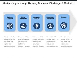 Market Opportunity Showing Business Challenge And Market Assessment