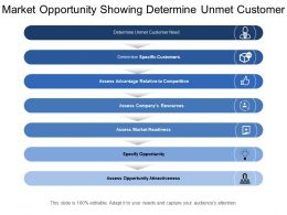 Market Opportunity Showing Determine Unmet Customer Need And Market Readiness