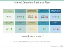Market Overview Business Plan Powerpoint Slide Designs Download