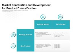 Market Penetration And Development For Product Diversification