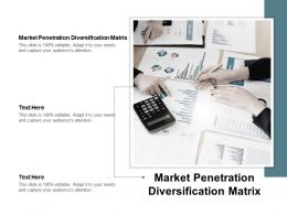 Market Penetration Diversification Matrix Ppt Powerpoint Presentation File Cpb