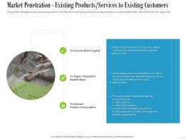 Market Penetration Existing Products Services To Existing Customers Ppt Powerpoint Styles