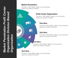 Market Penetration Profit Center Organization Division Based Organization