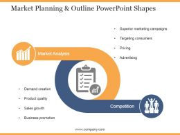 Market Planning And Outline Powerpoint Shapes