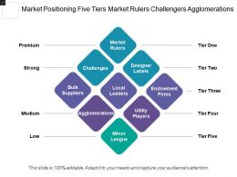 Market Positioning Five Tiers Market Rulers Challengers Agglomerations