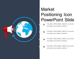 Market Positioning Icon Powerpoint Slide