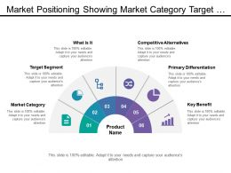 Market Positioning Showing Market Category Target Segment Primary Diffentiation