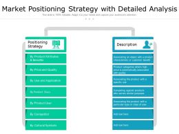 Market Positioning Strategy With Detailed Analysis