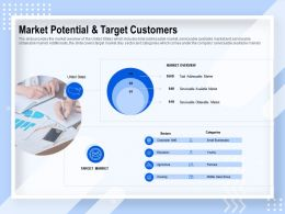 Market Potential And Target Customers Market Overview Ppt Powerpoint Presentation Gallery Grid
