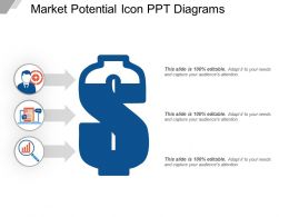 Market Potential Icon Ppt Diagrams