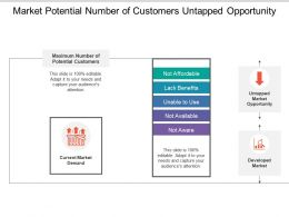 Market Potential Number Of Customers Untapped Opportunity