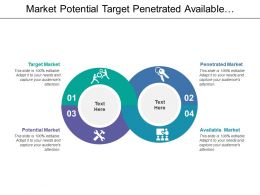 Market Potential Target Penetrated Available In Circular Image