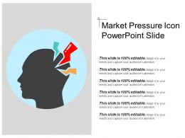 Market Pressure Icon Powerpoint Slide