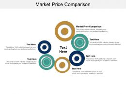 Market Price Comparison Ppt Powerpoint Presentation Infographic Template Visual Aids Cpb