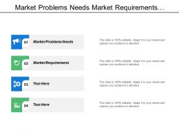 Market Problems Needs Market Requirements Solution Market Problems