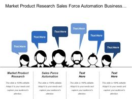 Market Product Research Sales Force Automation Business Performance