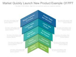 Market Quickly Launch New Product Example Of Ppt