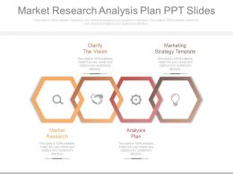 Market Research Analysis Plan Ppt Slides