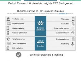 Market Research And Valuable Insights Ppt Background