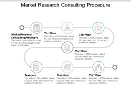 Market Research Consulting Procedure Ppt Powerpoint Presentation Gallery Backgrounds Cpb