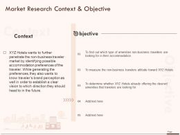 Market Research Context And Objective Ppt Powerpoint Presentation Infographics Graphic Tips