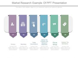 Market Research Example Of Ppt Presentation