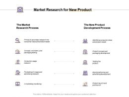 Market Research For New Product Development Process Ppt Powerpoint Slides