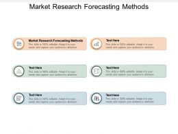 Market Research Forecasting Methods Ppt Powerpoint Presentation Slides Cpb