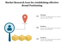 Market Research Icon For Establishing Effective Brand Positioning
