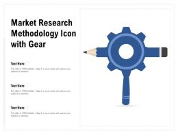 Market Research Methodology Icon With Gear