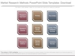 Market Research Methods Powerpoint Slide Templates Download