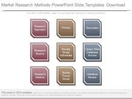 Market Research Methods Powerpoint Slide Templates Download