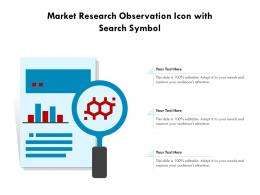 Market Research Observation Icon With Search Symbol