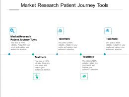 Market Research Patient Journey Tools Ppt Powerpoint Presentation Infographics Graphics Download Cpb