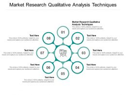 Market Research Qualitative Analysis Techniques Ppt Powerpoint Presentation Professional Graphic Tips Cpb