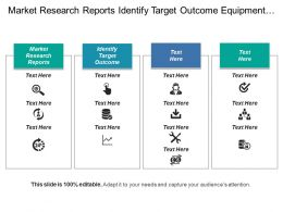 Market Research Reports Identify Target Outcome Equipment Specs