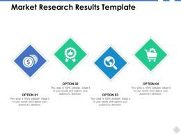 Market Research Results Template Currency Ppt Powerpoint Presentation Icon Skills