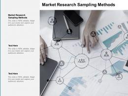 Market Research Sampling Methods Ppt Powerpoint Presentation Diagram Cpb