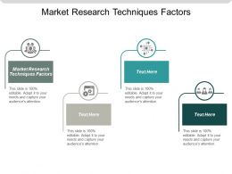 Market Research Techniques Factors Ppt Powerpoint Presentation Gallery Files Cpb