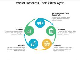 Market Research Tools Sales Cycle Ppt Powerpoint Presentation Styles Design Ideas Cpb