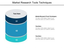 Market Research Tools Techniques Ppt Powerpoint Presentation Infographics Pictures Cpb