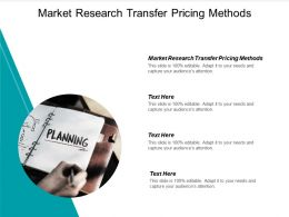 Market Research Transfer Pricing Methods Ppt Powerpoint Presentation Model Display Cpb