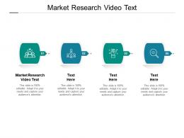 Market Research Video Text Ppt Powerpoint Presentation Professional Picture Cpb