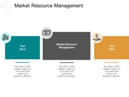 Market Resource Management Ppt Powerpoint Presentation Gallery Graphics Example Cpb